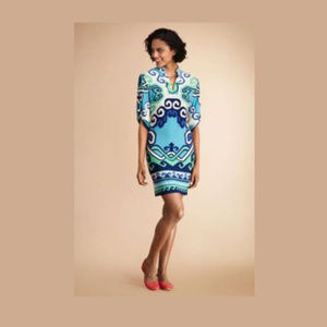 Donna Morgan magic mint printed shift tunic dress